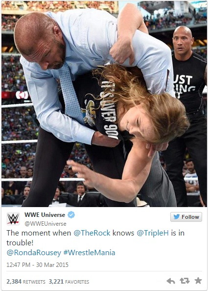 Rousey and Rock!